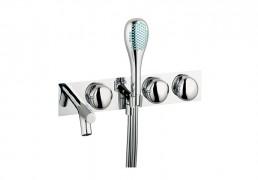 Artema İstanbul Ankastre Banyo Bataryası (3 Yollu Yönlendiricili, El Duşlu), Altın A4180923 Ankastre Banyo Bataryası